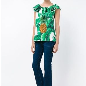 NWT $1400 Dolce & Gabbana sequined pineapple top 8